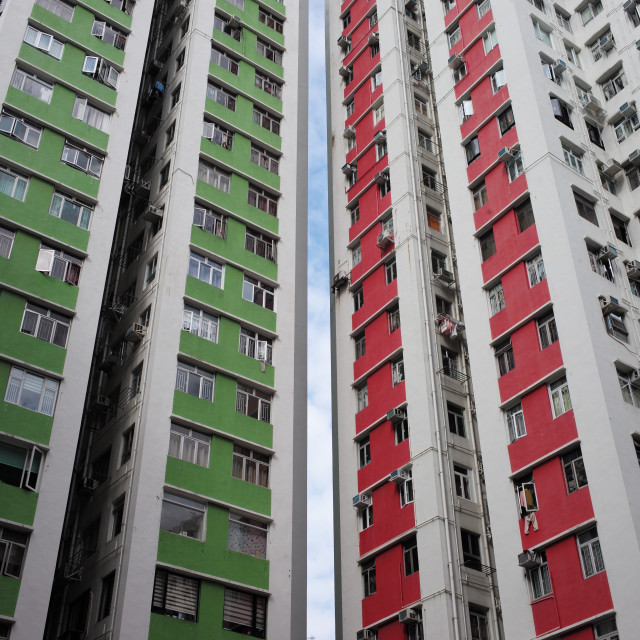 """""""Contrasting buildings"""" stock image"""