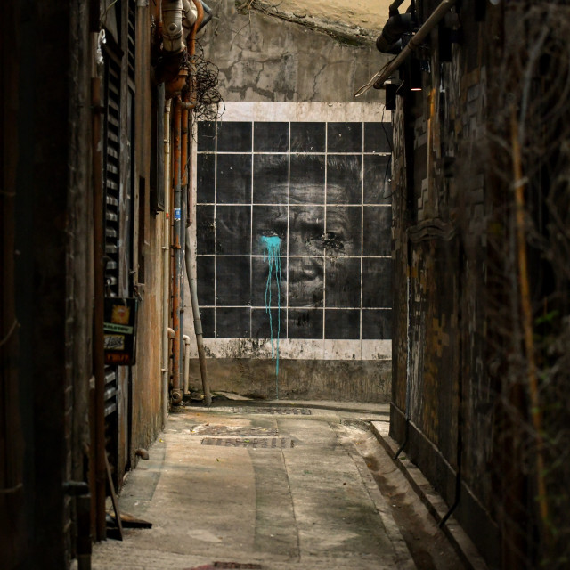 """Graffiti in a lane"" stock image"