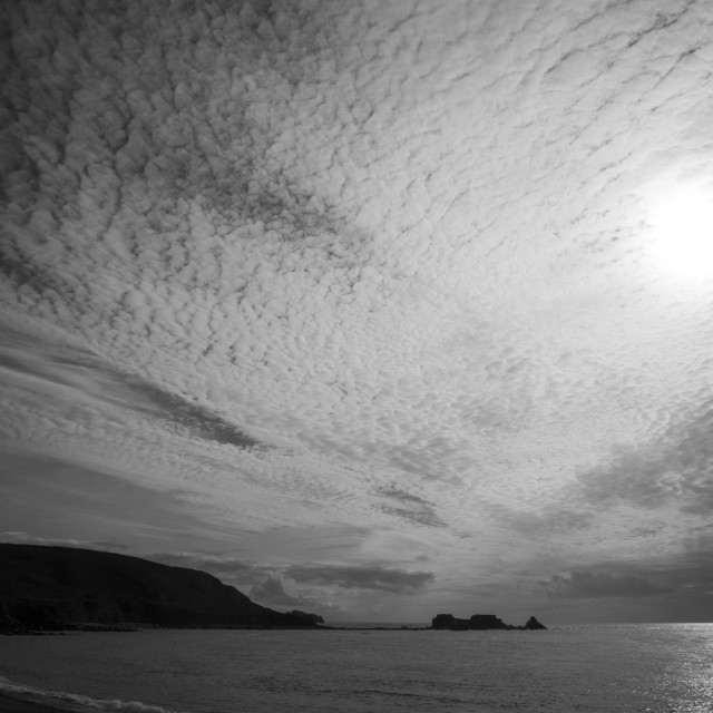 """""""Fort Clonque on the Channel Island of Alderney (monochrome image)"""" stock image"""