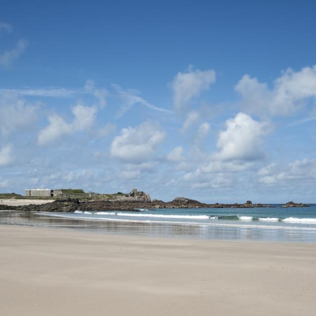 """Corblets bay on Channel Island of Alderney"" stock image"