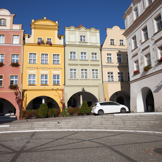 """Old Town Houses of Jelenia Gora City in Poland"" stock image"