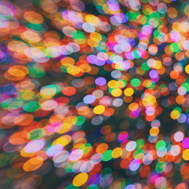 """Bokeh lights on black background, abstract blur light"" stock image"