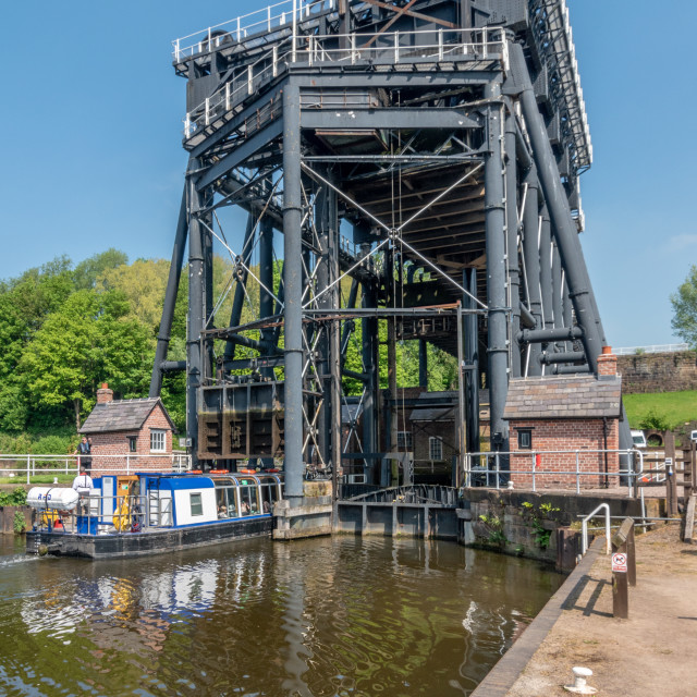 """The Anderton Boat Lift"" stock image"