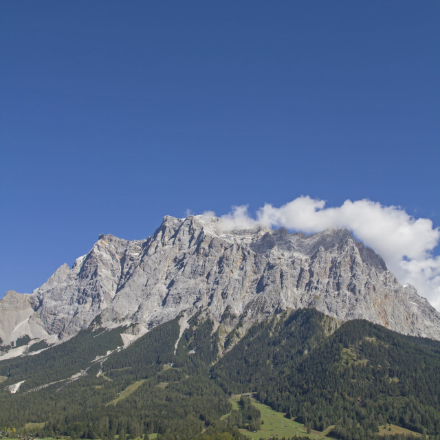 """Ehrwald and Zugspitze"" stock image"