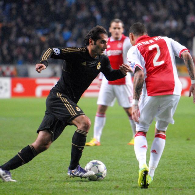 """Football - Champions League - Ajax vs. Real Madrid"" stock image"