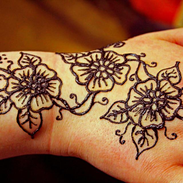 """Henna Tattoo"" stock image"