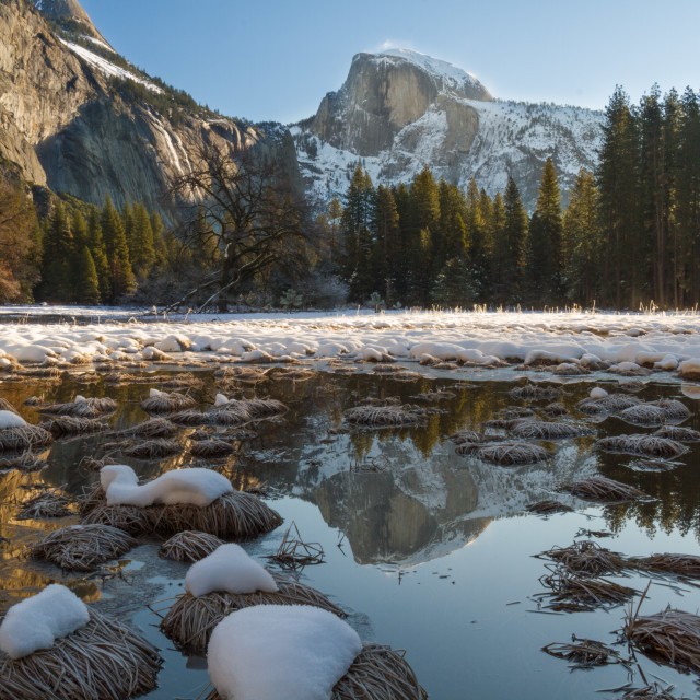 """Yosemite Valley in Winter"" stock image"