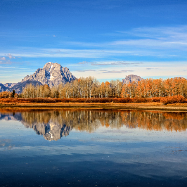 """Jackson Hole Reflection"" stock image"