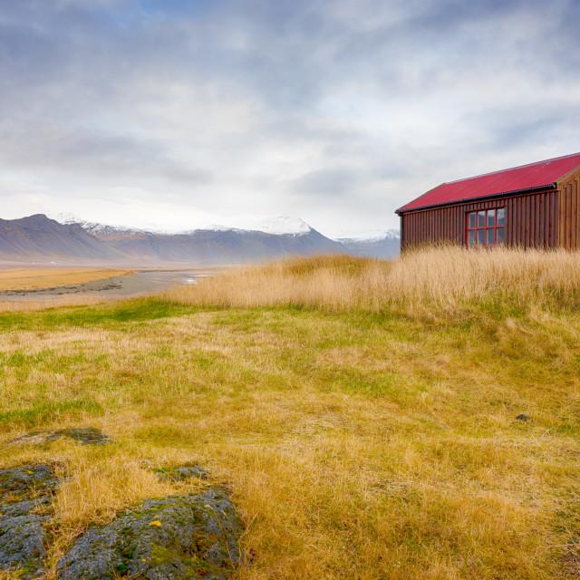 """Búðavegur, Iceland I"" stock image"