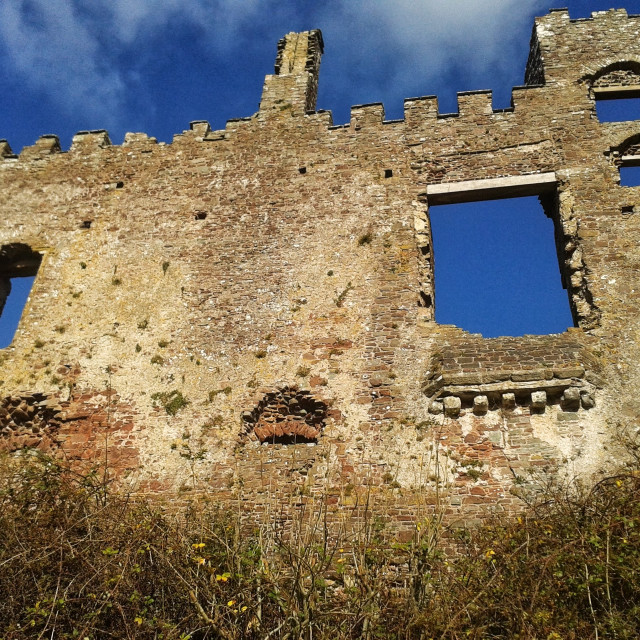 """Laugharne Castle"" stock image"