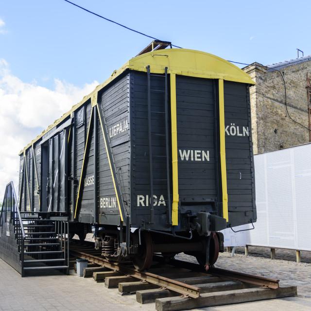 """Ghetto and Holocaust Museum, Riga, Latvia"" stock image"
