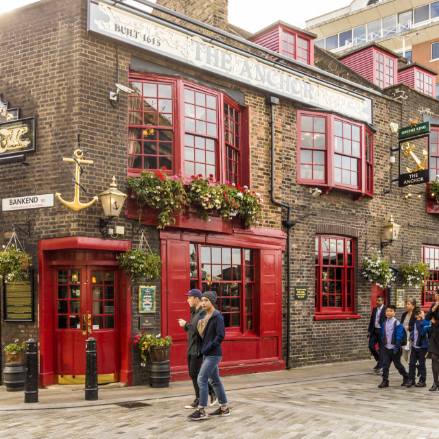 """The Anchor pub in London, England, United Kingdom, Europe."" stock image"