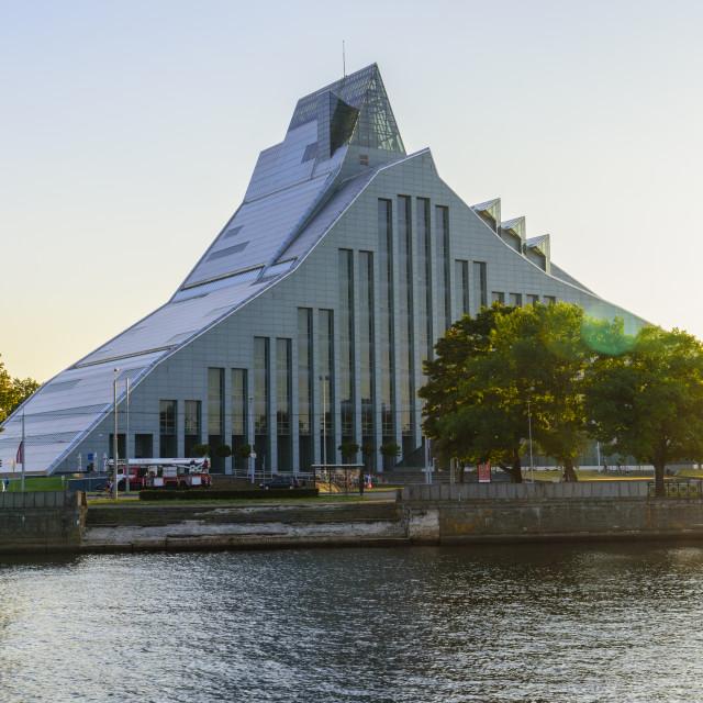"""""""National Library, Riga, Latvia"""" stock image"""