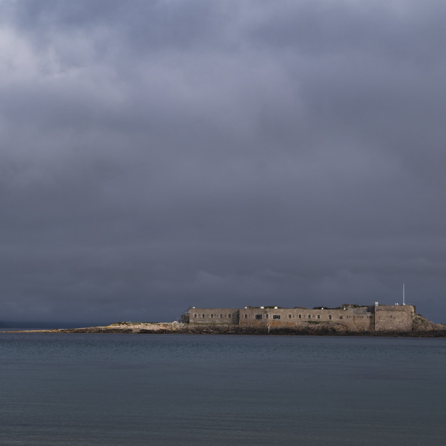 """Fort Ile de Raz, Alderney"" stock image"
