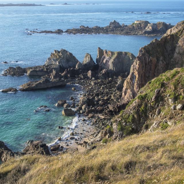 """""""Alderney Beaches"""" stock image"""
