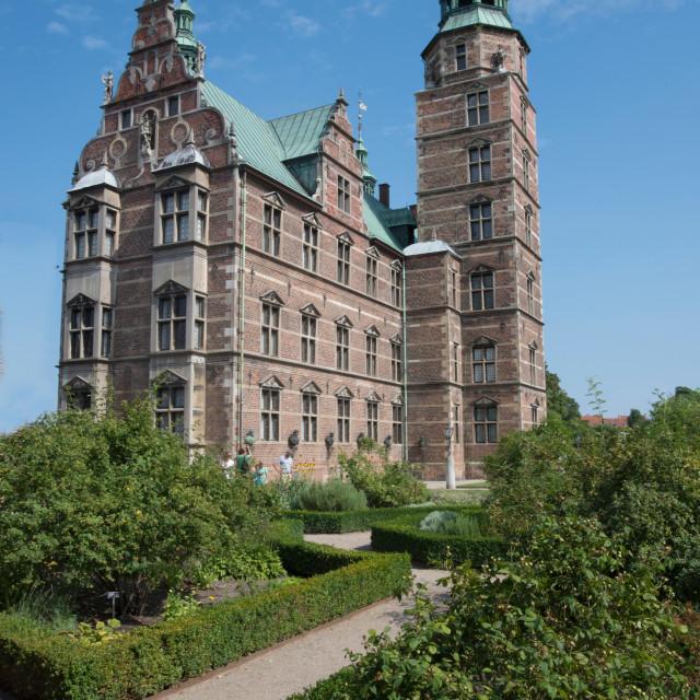 """""""Rosenborg Castle built in the 17th century by Christian IV, Copenhagen, Denmark"""" stock image"""