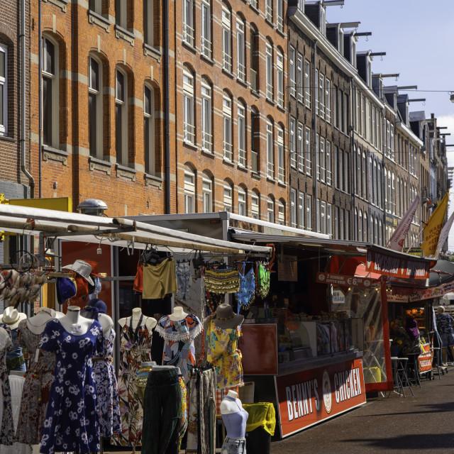 """De Pijp Market, Amsterdam, Noord Holland, Netherlands"" stock image"
