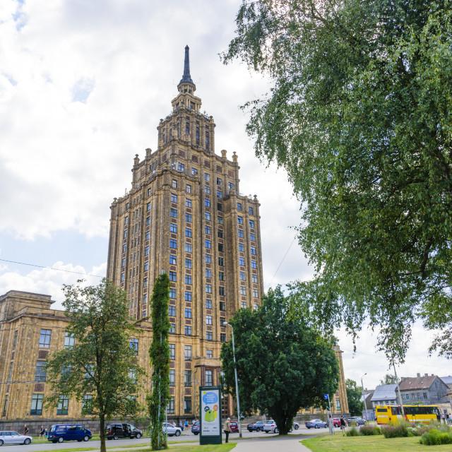 """""""Latvia Academy of Sciences, Riga, Latvia"""" stock image"""