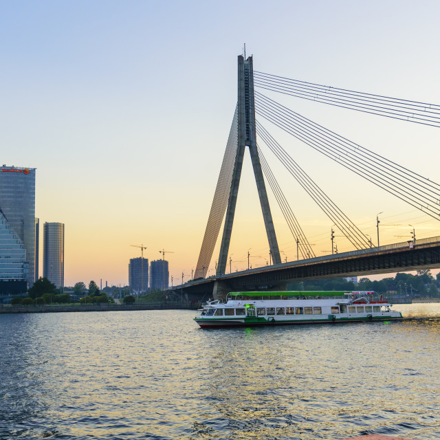 """Vansu Bridge, Riga, Latvia"" stock image"