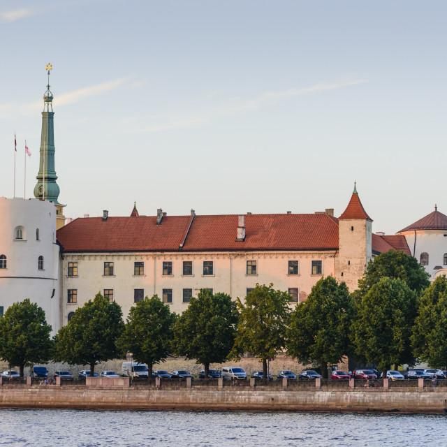 """Riga Castle, Riga, Latvia"" stock image"