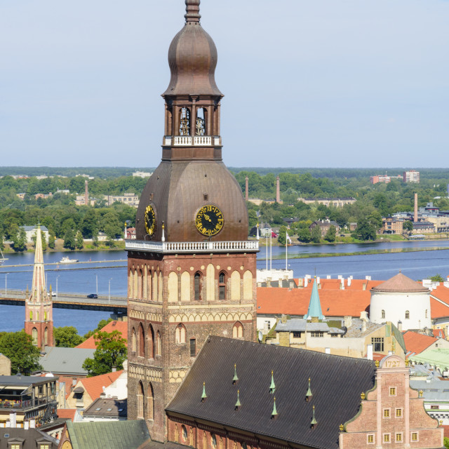 """""""Riga Cathedral, Riga, Latvia"""" stock image"""