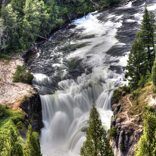 """Lower Mesa Falls, near Island Park, Idaho, USA"" stock image"