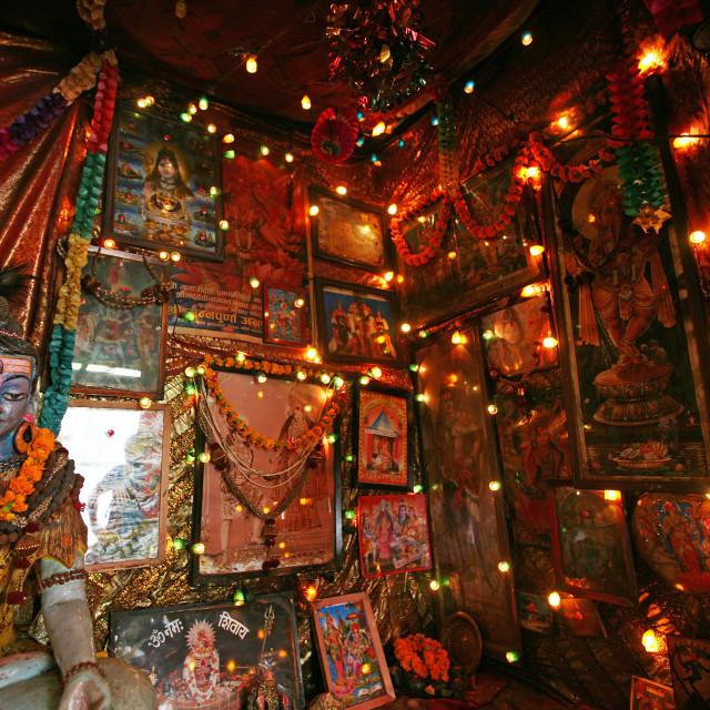 """Sadhu's den, Kathmandu"" stock image"