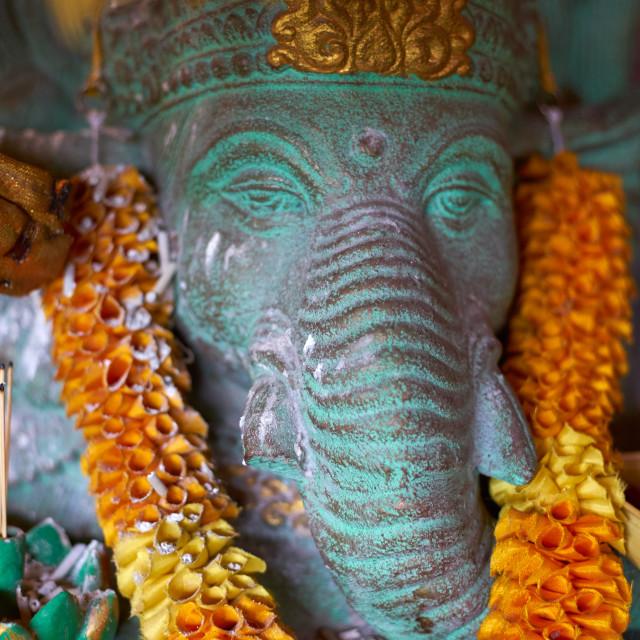 """Decorated Ganesh statue in Ubud, Bali."" stock image"