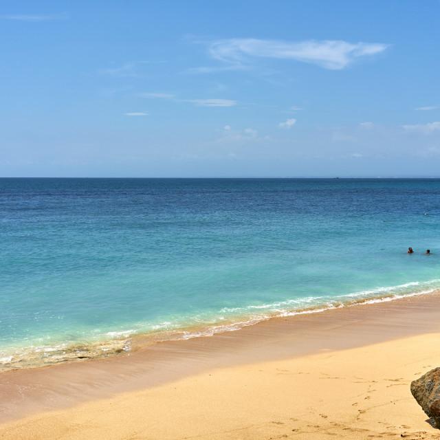 """Views over the Indian Ocean at Bingin Beach on Bali."" stock image"
