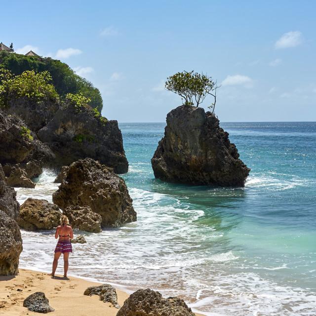 """""""Bingin Beach on Bali."""" stock image"""