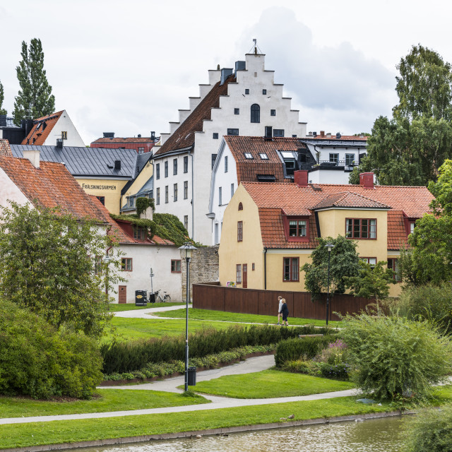 """""""UNesco world heritage sight the town of Visby, Gotland, Sweden"""" stock image"""