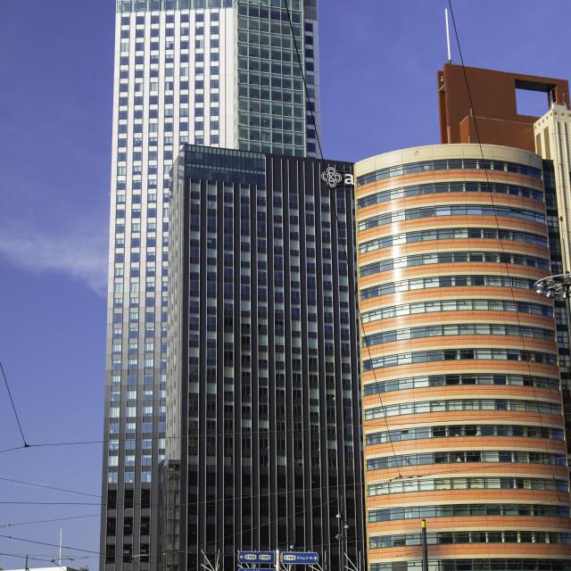 """Maastoren building, Rotterdam, Zuid Holland, Netherlands"" stock image"