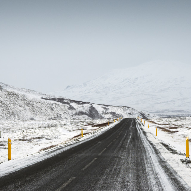 """Road 36, Thingvellir National Park"" stock image"