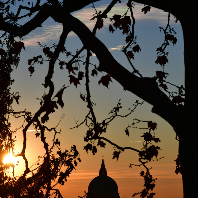 """Sunset on the dome"" stock image"