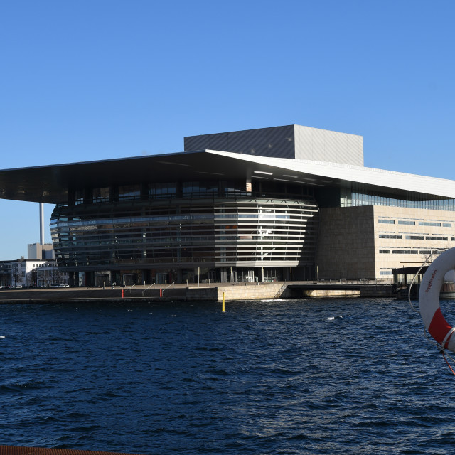 """OPERA HUS OR OPERA HOUSE BUILDING IN COPENHAGEN"" stock image"