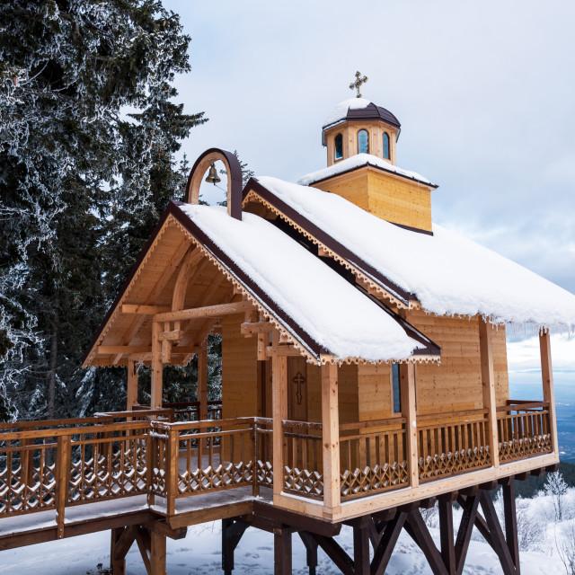 """Old bulgarian wooden orthodox church."" stock image"