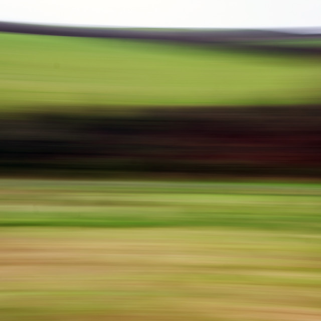 """""""Movement in the countryside"""" stock image"""