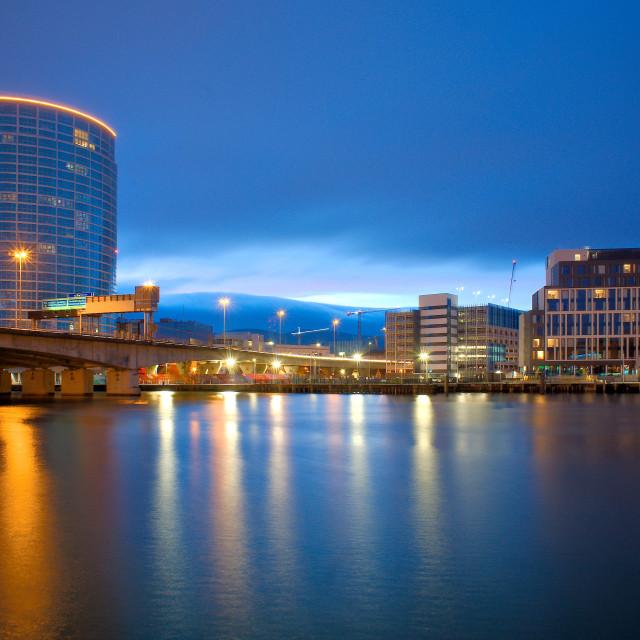 """River Lagan in Belfast"" stock image"