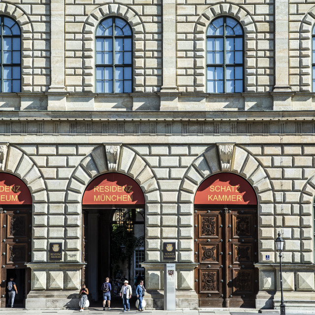 """""""Entrance, Residenz Museum and Treasury, Munich, Germany"""" stock image"""