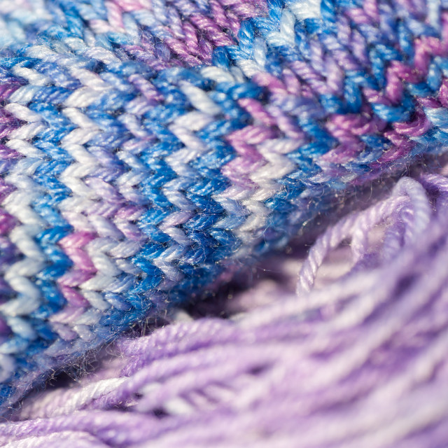 """Seamless knitted patterns in pastel colors fragment close up"" stock image"