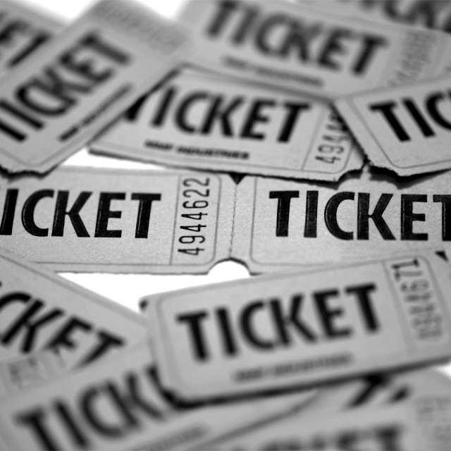 """""""Tickets"""" stock image"""