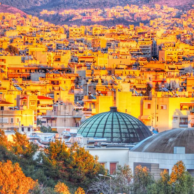 """""""Athens skyline"""" stock image"""