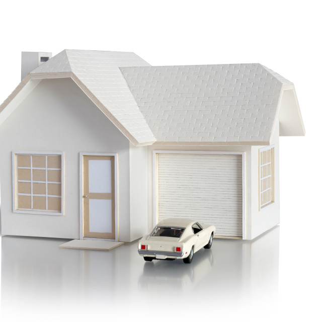 """""""House miniature with car"""" stock image"""