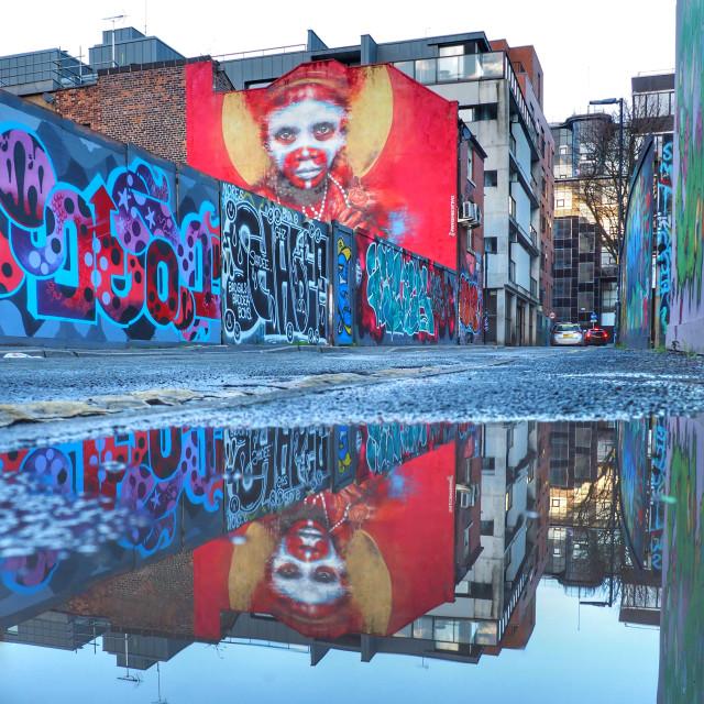 """Dale Grimshaw's mural"" stock image"