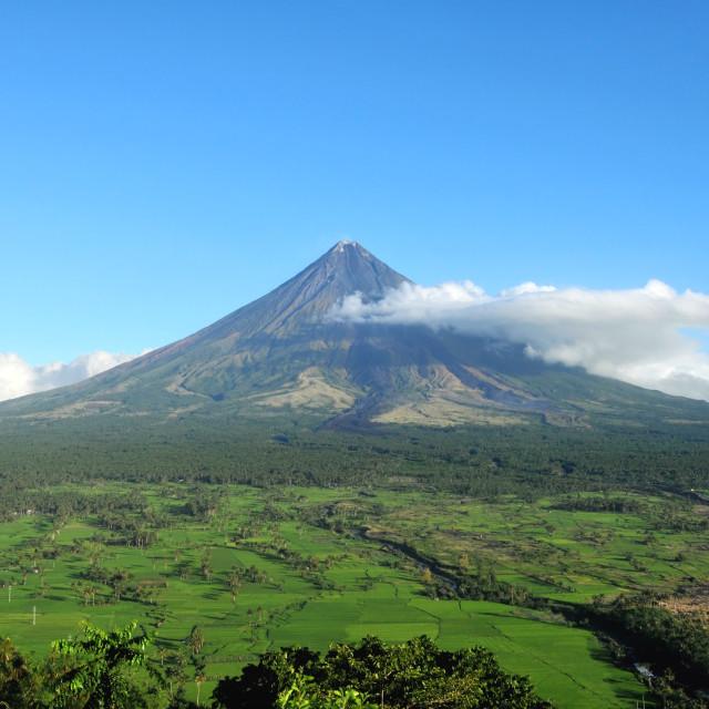 """Mayon Volcano, Philippines"" stock image"