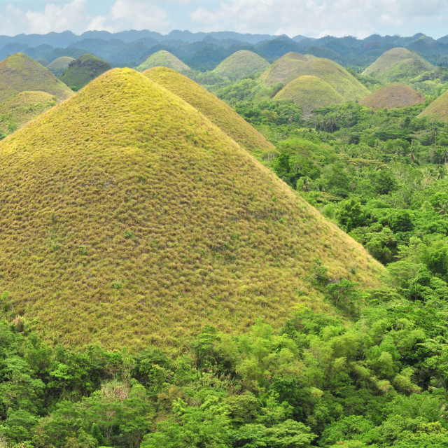 """""""Chocolate Hills in Bohol, Philippines"""" stock image"""