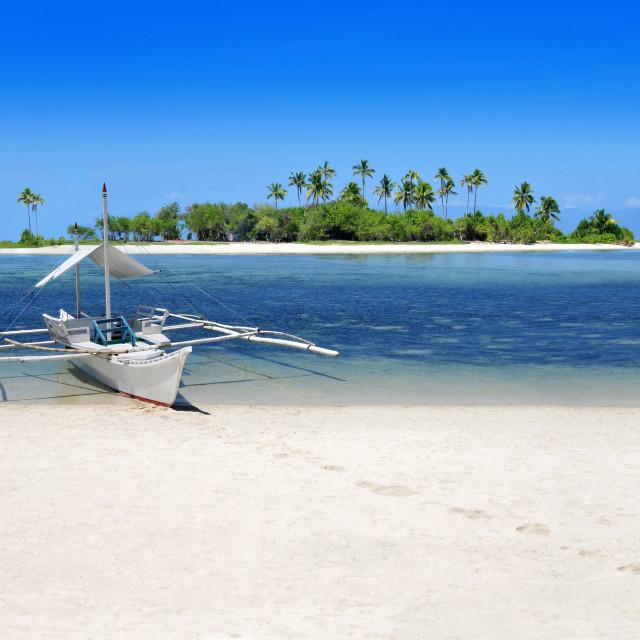 """Pristine tropical beach"" stock image"