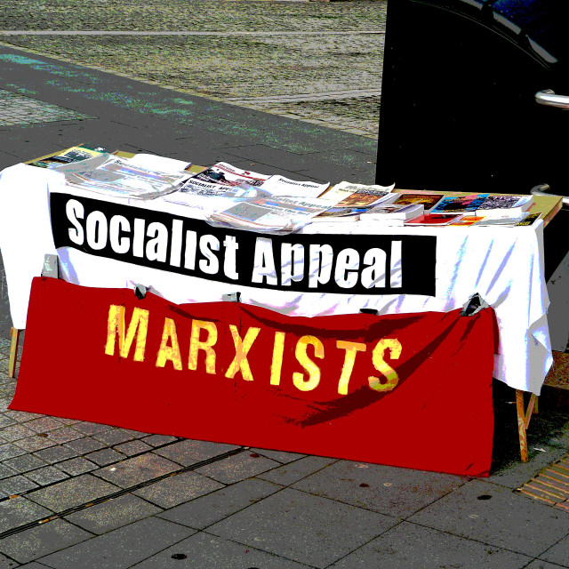 """""""Marxist Poster"""" stock image"""