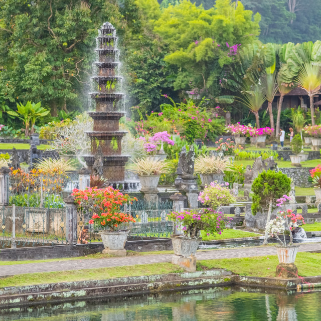 """Tirta Gangga Fountain"" stock image"