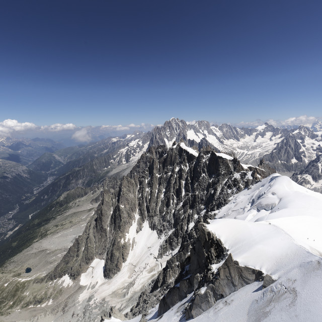 """Views from LA'Aiguille Du Midi in Chamonix, France. Horizontal image."" stock image"